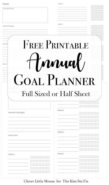 2017 Goal Planner Printables to Help You Stay on Track | Goal ...