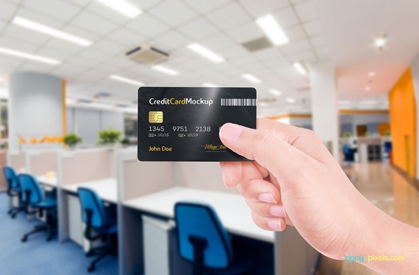 Smart Object Based Credit Card Mockup | Free Credit Card Mockup By  ZippyPixels #free #