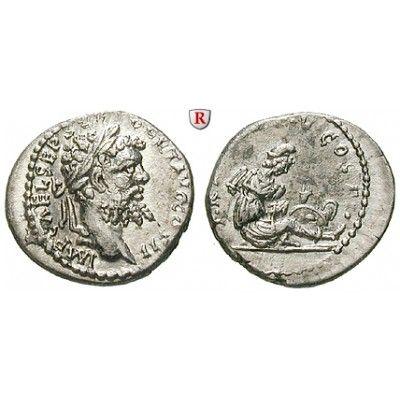 Römische Kaiserzeit, Septimius Severus, Denar 194-195, ss-vz: Septimius Severus 193-211. Denar 17 mm 194-195 Laodicea. Kopf r. mit… #coins