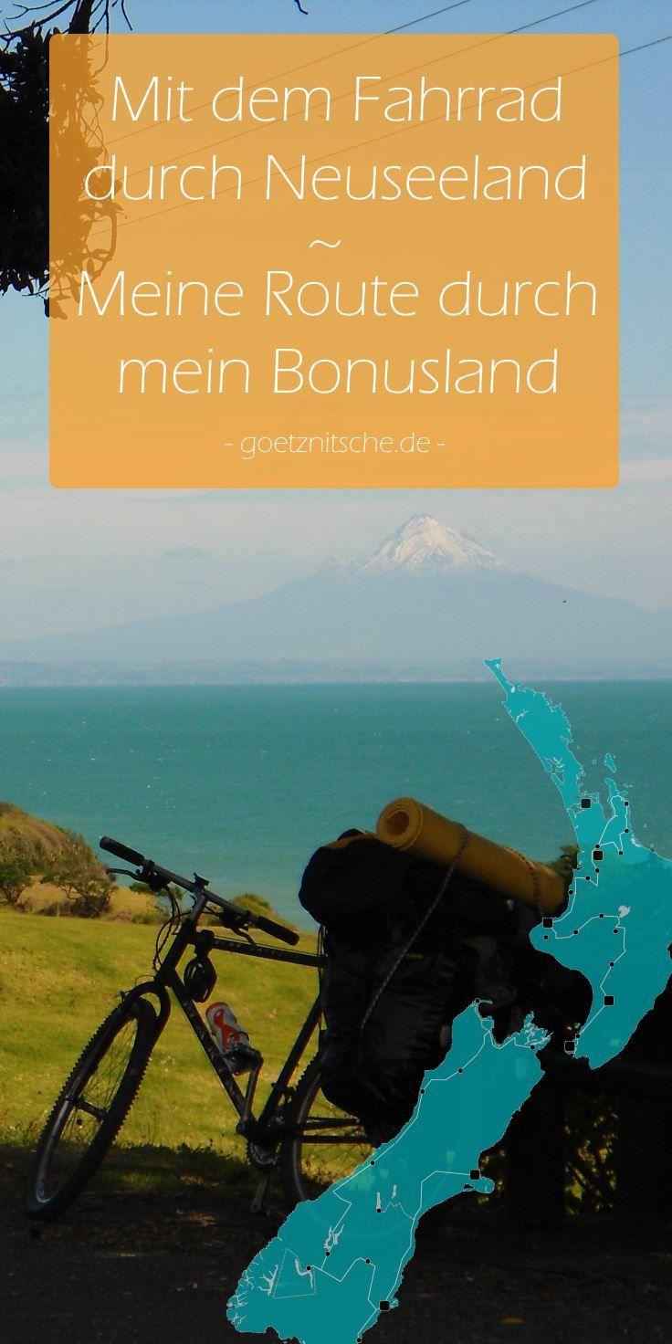 Mit Dem Fahrrad Durch Neuseeland Meine Route Durch Mein
