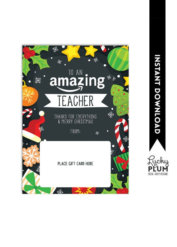 amazon gift card holder teacher thank you card christmas gift card holder teacher. Black Bedroom Furniture Sets. Home Design Ideas