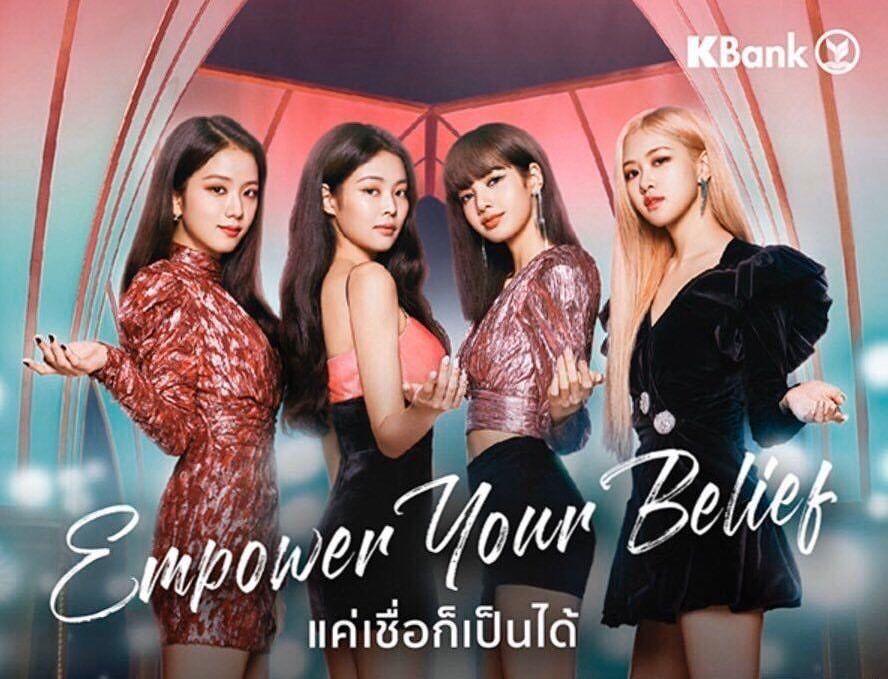 Update Blackpink For Kbank Thailand Commercial Blackpink Kpop Girl Groups Kpop Girls