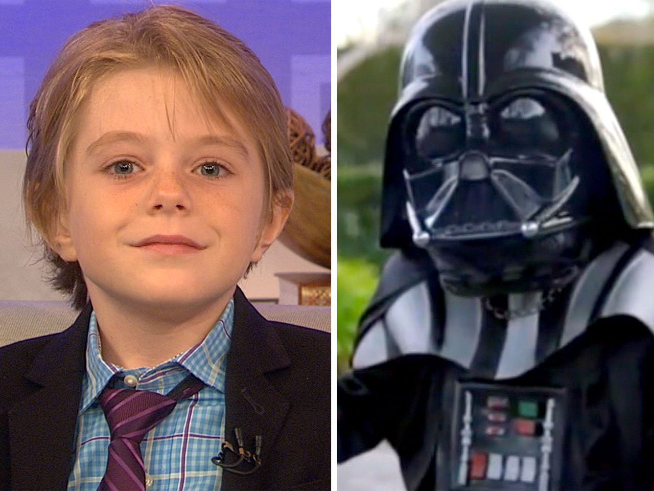 'Little Darth Vader': 'My heart feels better now'