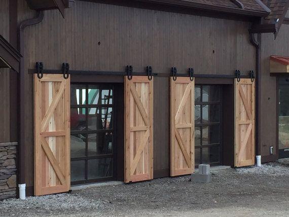 Vintage Industrial Sliding Doors : Vintage industrial spoked horseshoe sliding steel barn