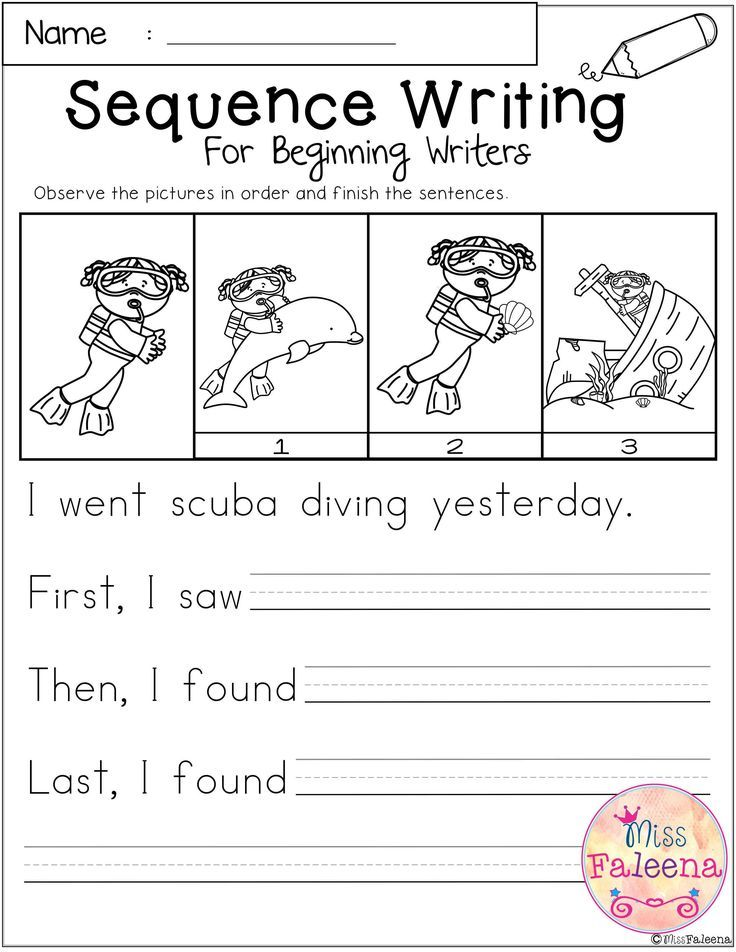 August Sequence Writing For Beginning Writers 1st Grade