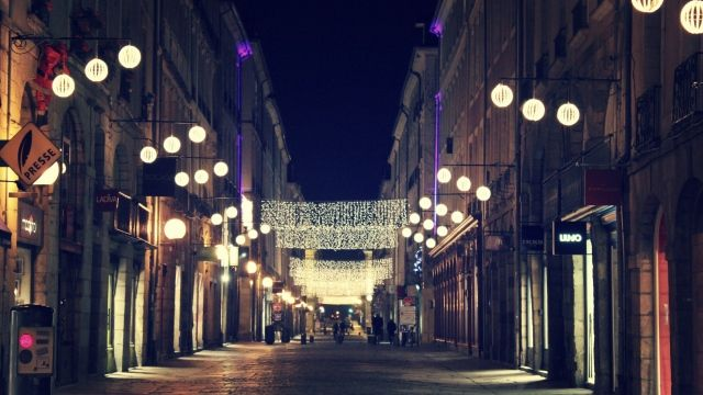 Download Wallpaper City Night Street Light Glare Hd Background