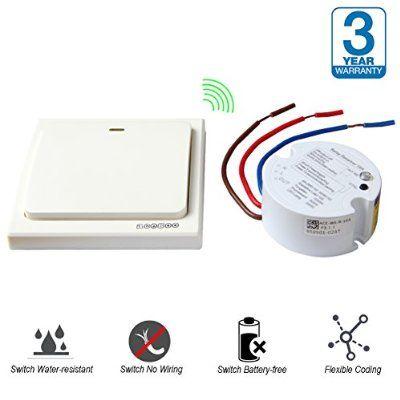 Acegoo Wireless Lights Switch Kit Self Powered Battery Free