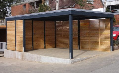 die besten 25 carports aus holz ideen auf pinterest. Black Bedroom Furniture Sets. Home Design Ideas
