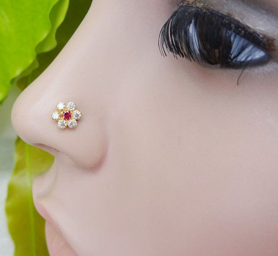 Traditional Nose Hoop Indian Nose Ring Medusa Piercing Nose Stud