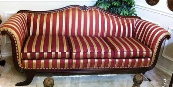 SALE Early 1900s Duncan Phyfe Sofa Original By VintageArtz, $2500.00