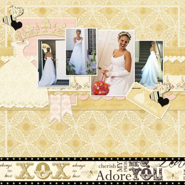 Using the new collection from Webster's Pages *In LOve* in digital format and a lift of the GDT for March, Carol MOnson
