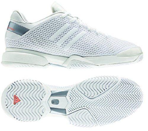 Adidas Stella barricada 8 mujeres zapato tenis corriendo blanco / Metallic