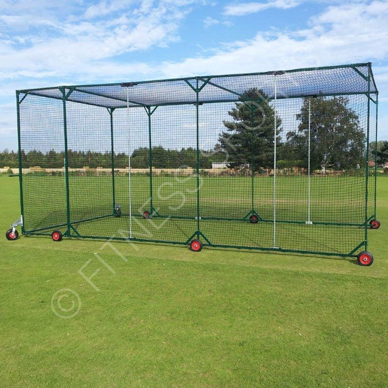 The FS Concertina Folding Mobile Cricket Net Cage Is Ideal For Locations  That Require Portability With