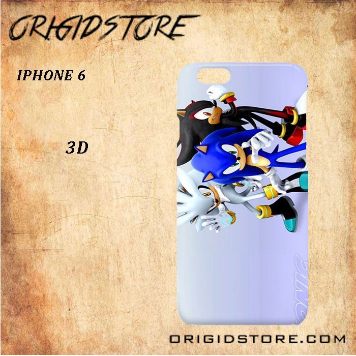 Sonic The Hedgehog cartoon For Iphone 6 Snap On and 3D Case