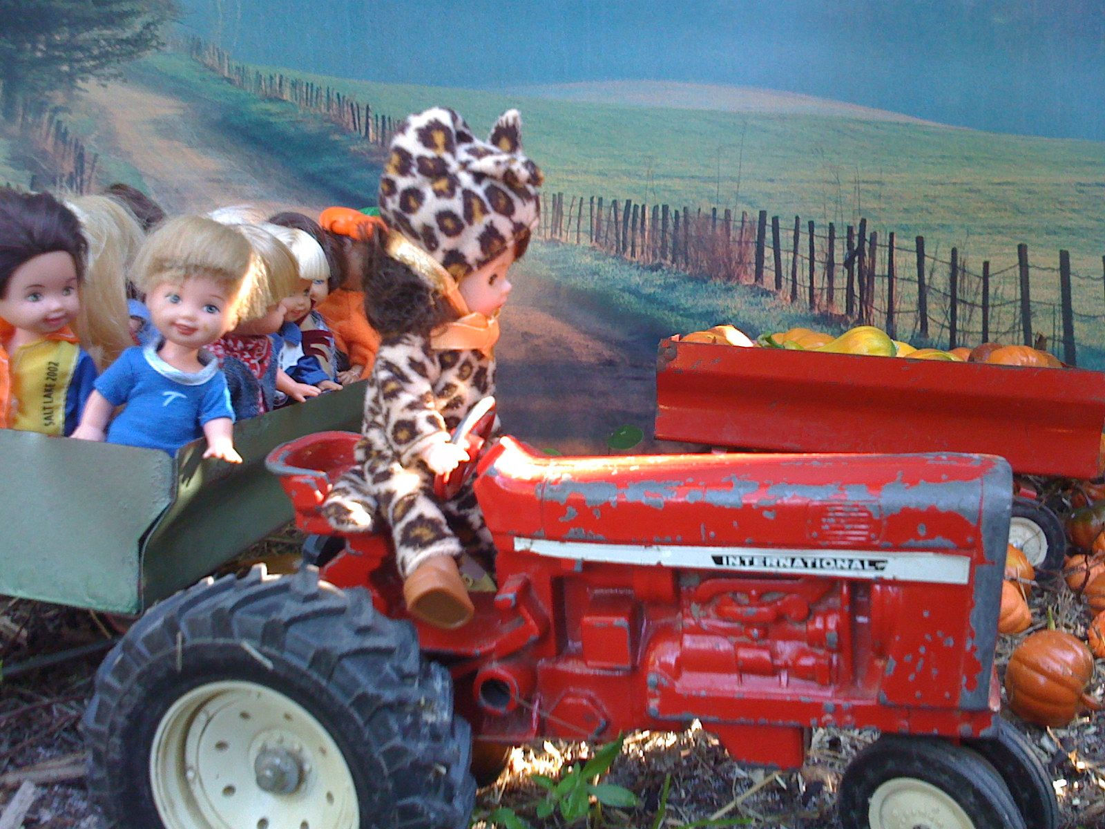 Look who's driving the tractor