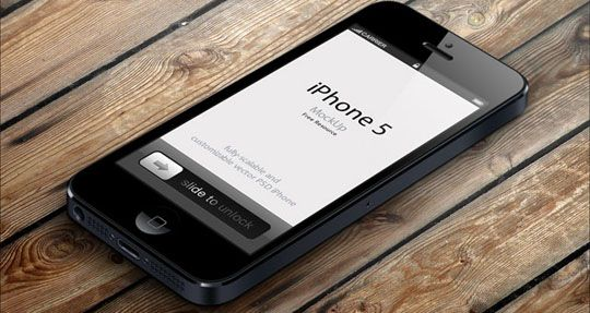 20 free and very realistic iphone 5 mockups to showcase your ios apps - Iphone 5s Mockup Free
