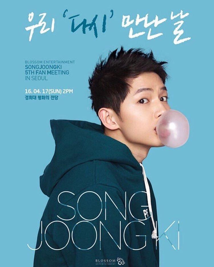 """Song Joong Ki 5th Fan Meeting In Seoul Date, Time: April"