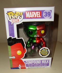 Funko Pop Marvel Metallic Compound Hulk Vinyl Bobble Head Figure With Images Funko Pop Dolls Funko Pop Figures Marvel Pop Vinyl