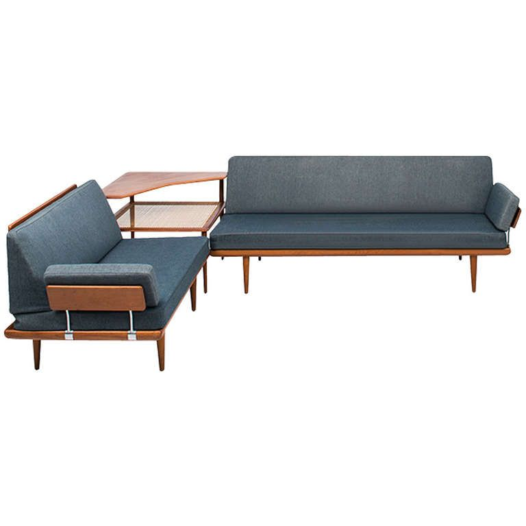 """Peter Hvidt and Orla Mølgaard-Nielsen Sofa Group, Model """"Minerva"""" 