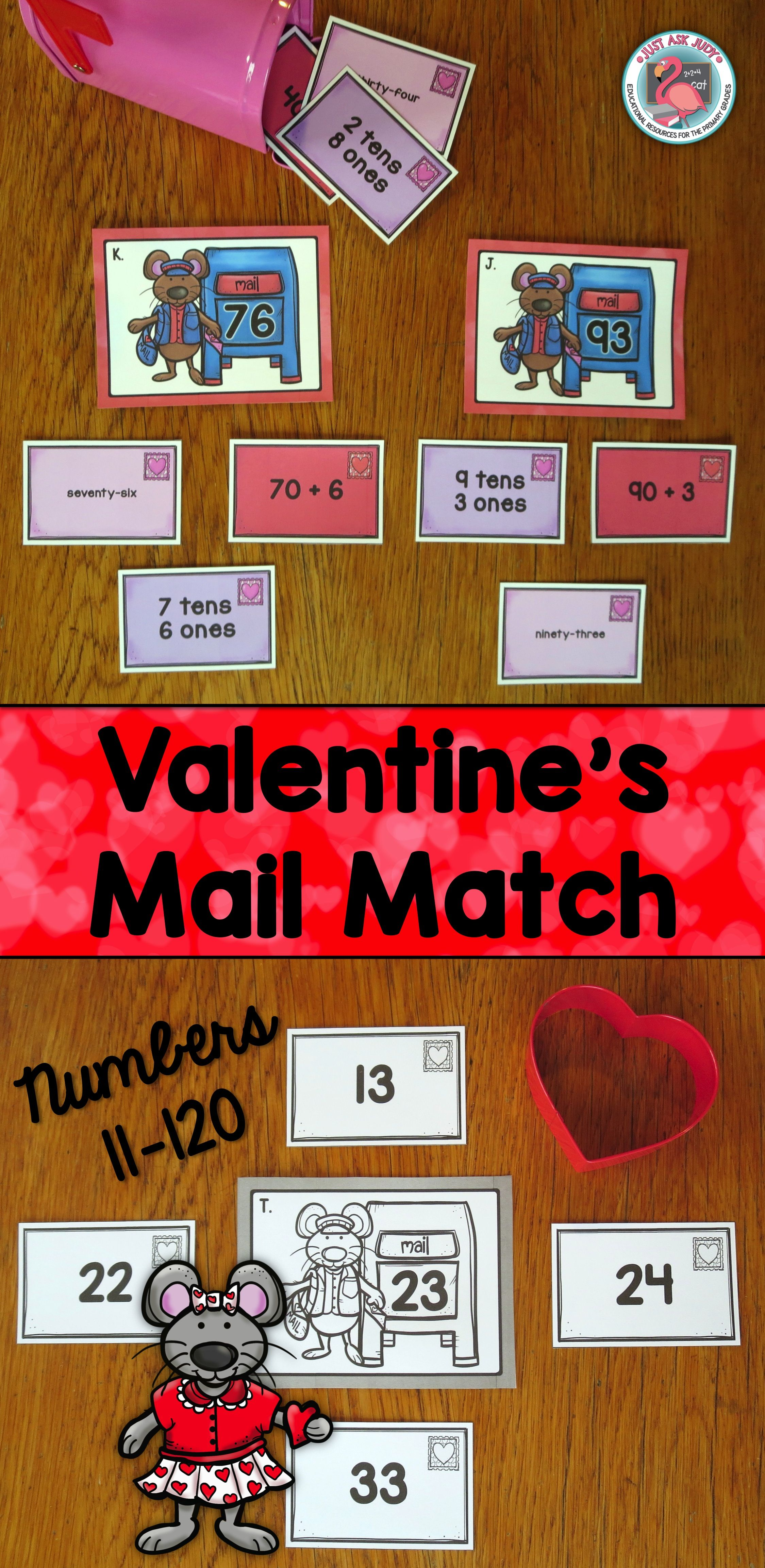 Place Value Sorting Activity Valentine S Numbers 11 120