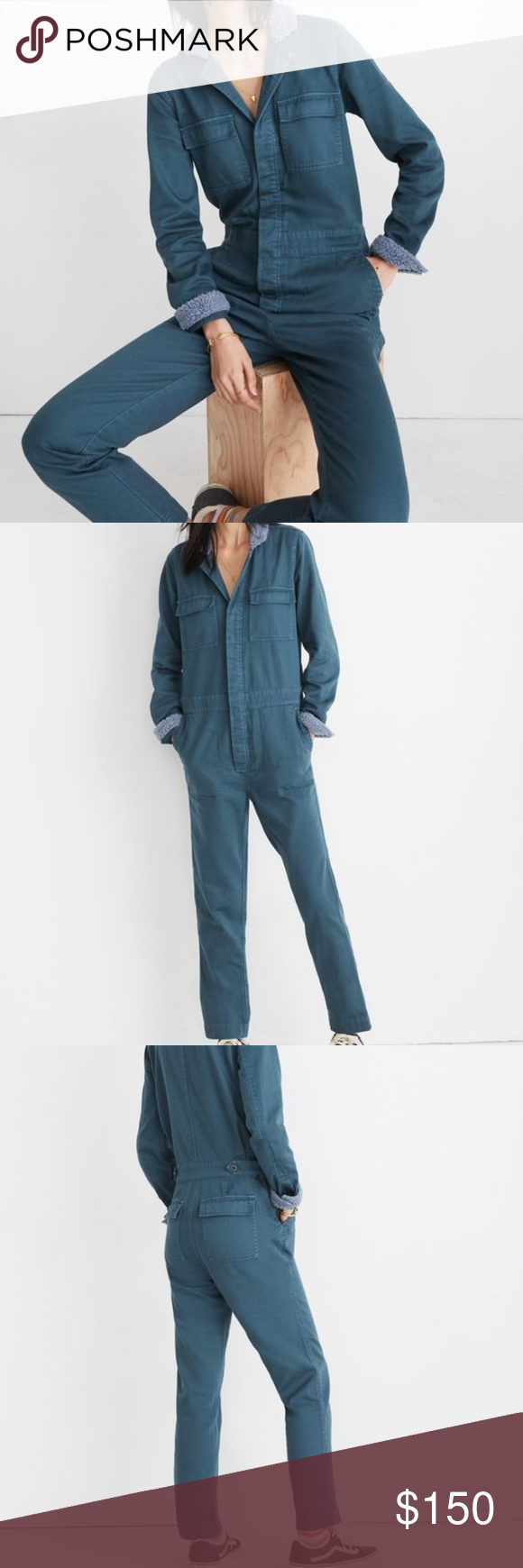 f31b87dbb070 Madewell Sherpa Coverall Jumpsuit Available tonight. Madewell s  best-selling jumpsuit gets a cozy update