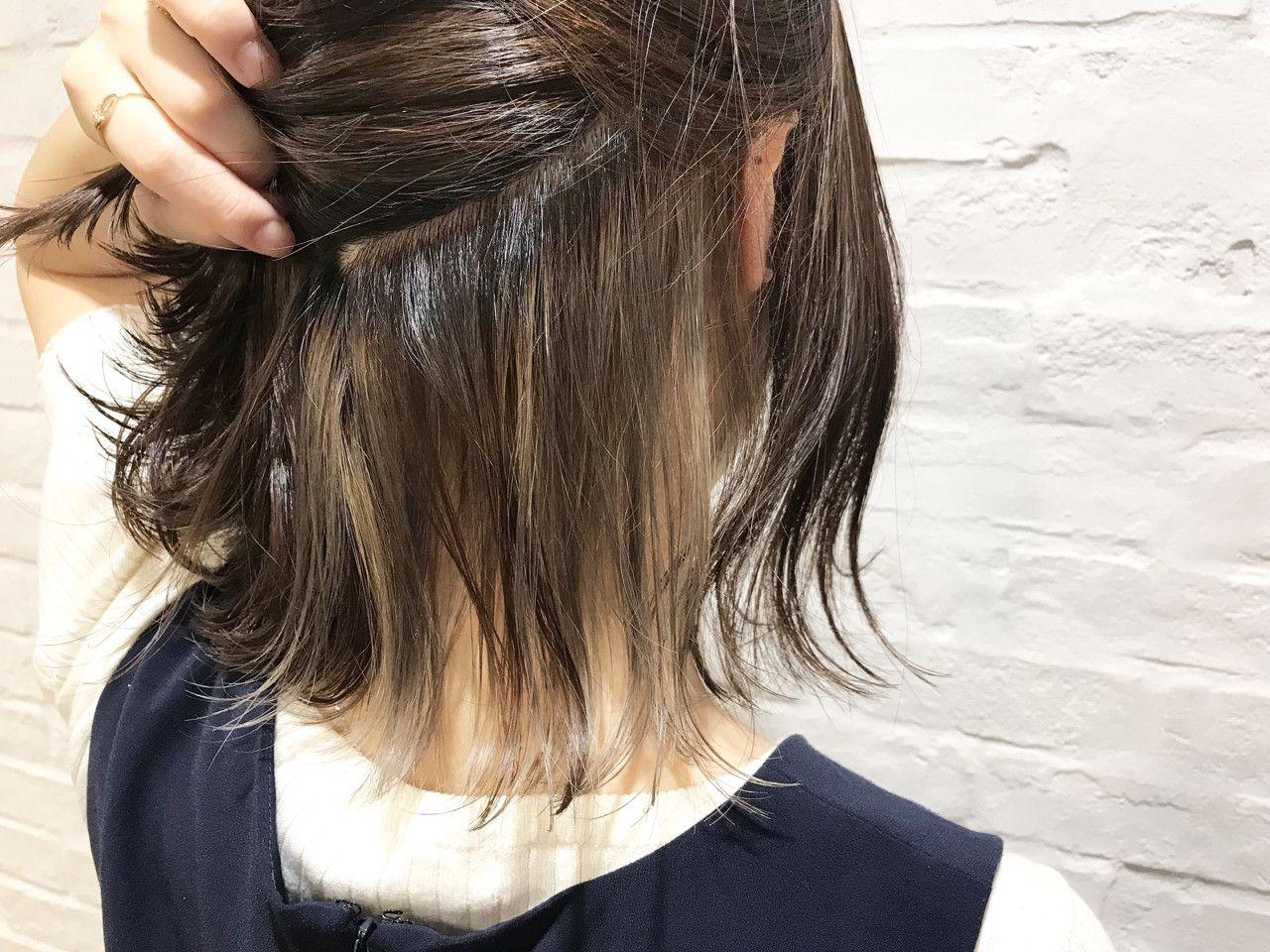 人気の インナーカラー でおしゃれ見せ ヘアスタイル例11選 Hair