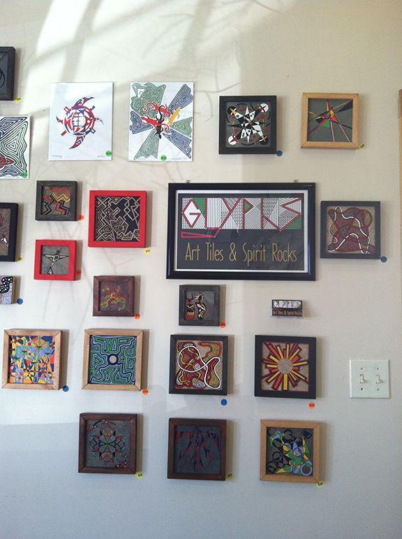 My art on display at Homegrown Restaurant, Merrimon Avenue, Asheville, North Carolina.