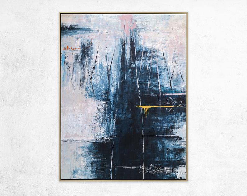 Abstract Painting Original Large Acrylic Canvas Wall Art Etsy Abstract Painting Acrylic Painting Canvas Painting