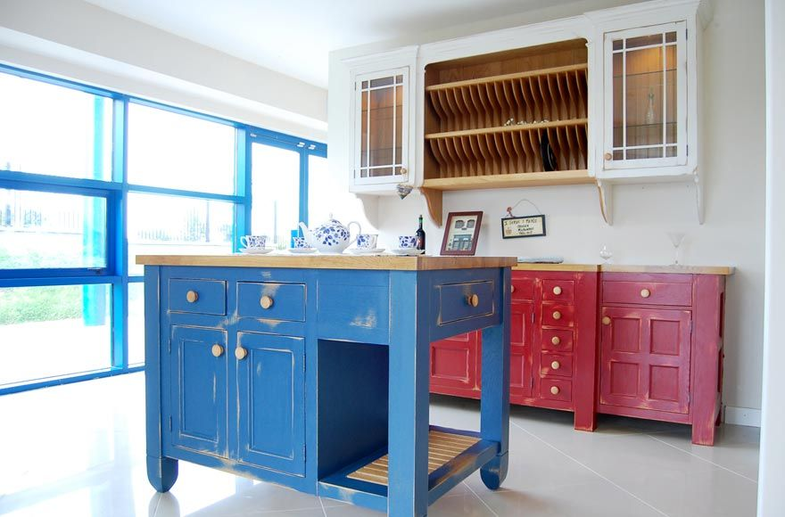 Distressed Painted Kitchen Kitchen Kitchen Paint Home Decor