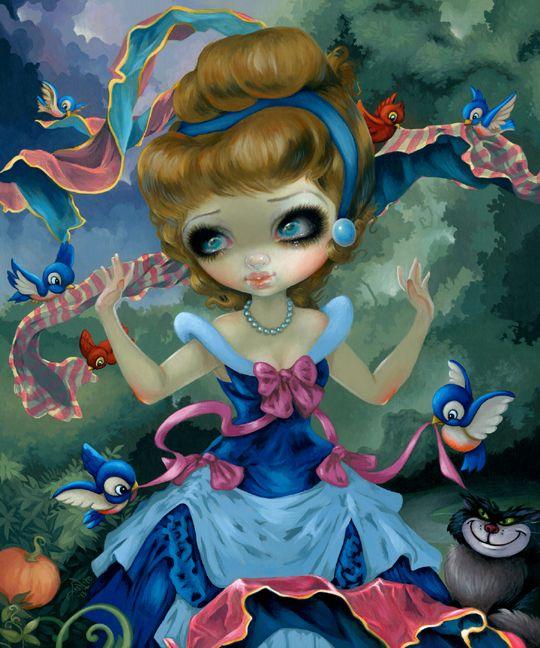 Wonderground gallery cinderella 39 s transformation jasmine - Peinture princesse disney ...