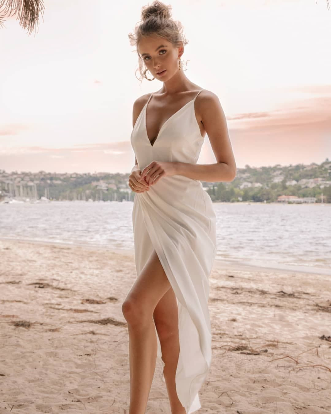 Elopement Wedding Dress Casual Simple Intimate Wedding Dress Romantic For The Love Of Stationery In 2020 Casual Beach Wedding Dress Simple Wedding Dress Casual Casual Wedding Dress