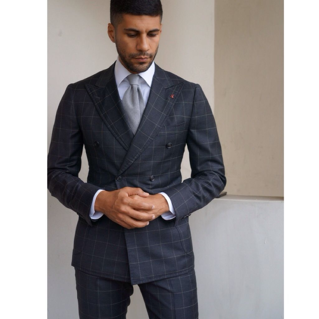Isaia double breasted suit, Angel bespoke shirt and Barba Napoli tie. and  he is