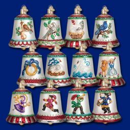 Old World Christmas Twelve Days of Christmas Bells Collection found at the ChristmasOrnamentStore.com!