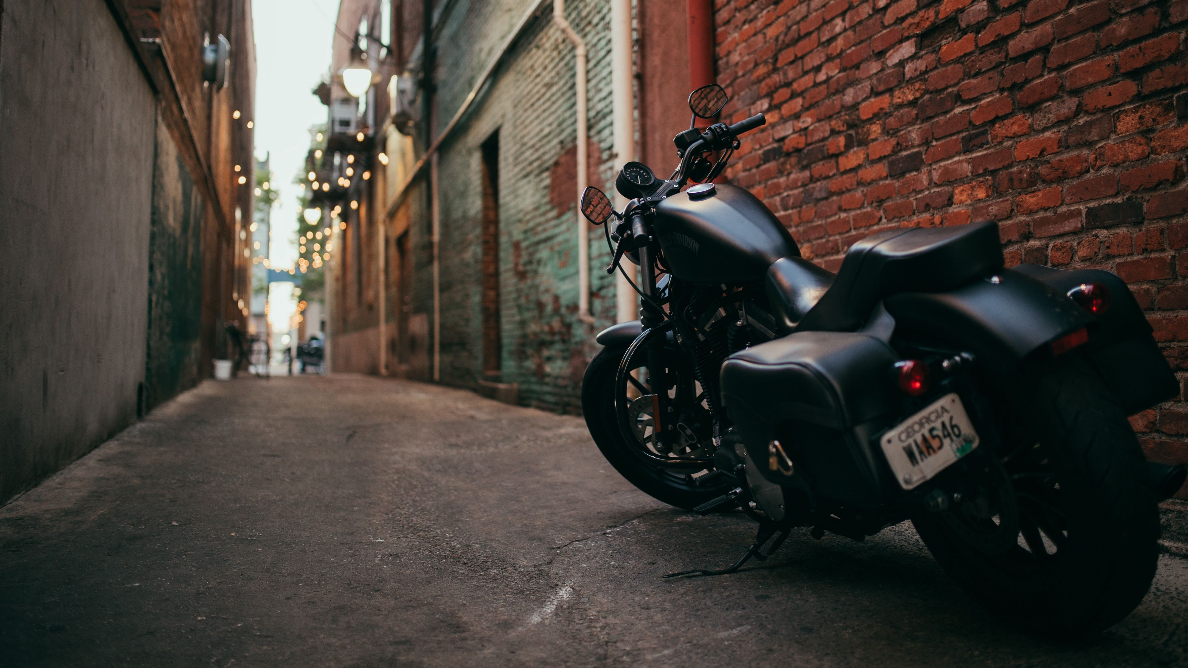 Bike Motorcycle Side View Yard 4k 4k Hd Wallpapers