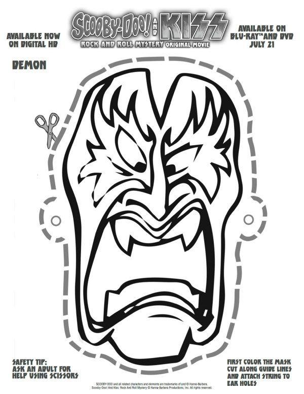 Free Printable Scooby Doo Kiss Demon Mask Scooby Doo Halloween Scooby Scooby Doo Birthday Party
