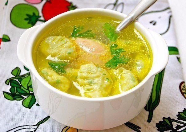 Куриный суп с клецками из муки | Печем и варим