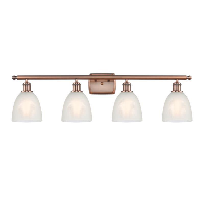 """Photo of Innovations lighting 516-4W Castile Castile 4 light 36 """"wide bathroom Vanity Lig Antique copper / white interior lighting bathroom fittings Vanity Light"""