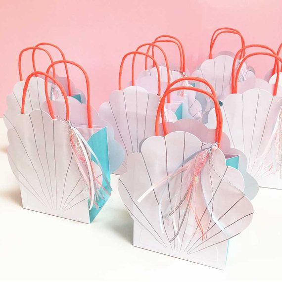 Mermaid Gift Bags Meri S Party Set Of 8
