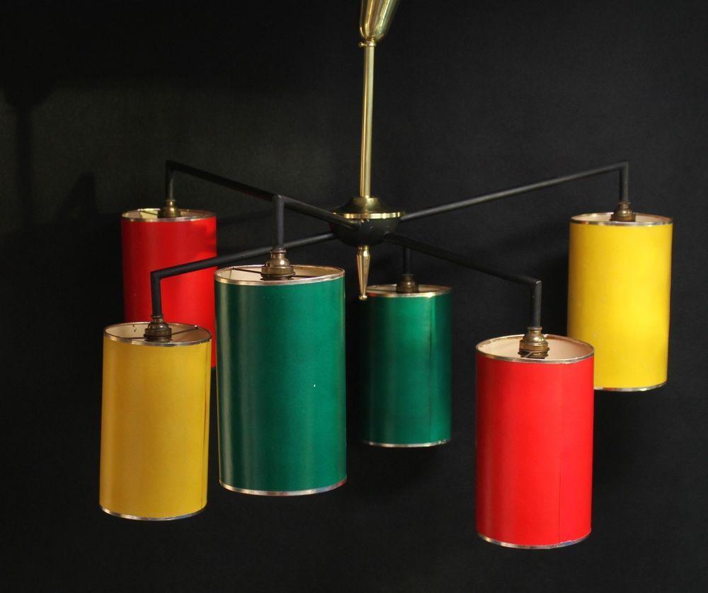 Details zu 50er/60er Lampe - imposantePendelleuchte Hängelampe ...
