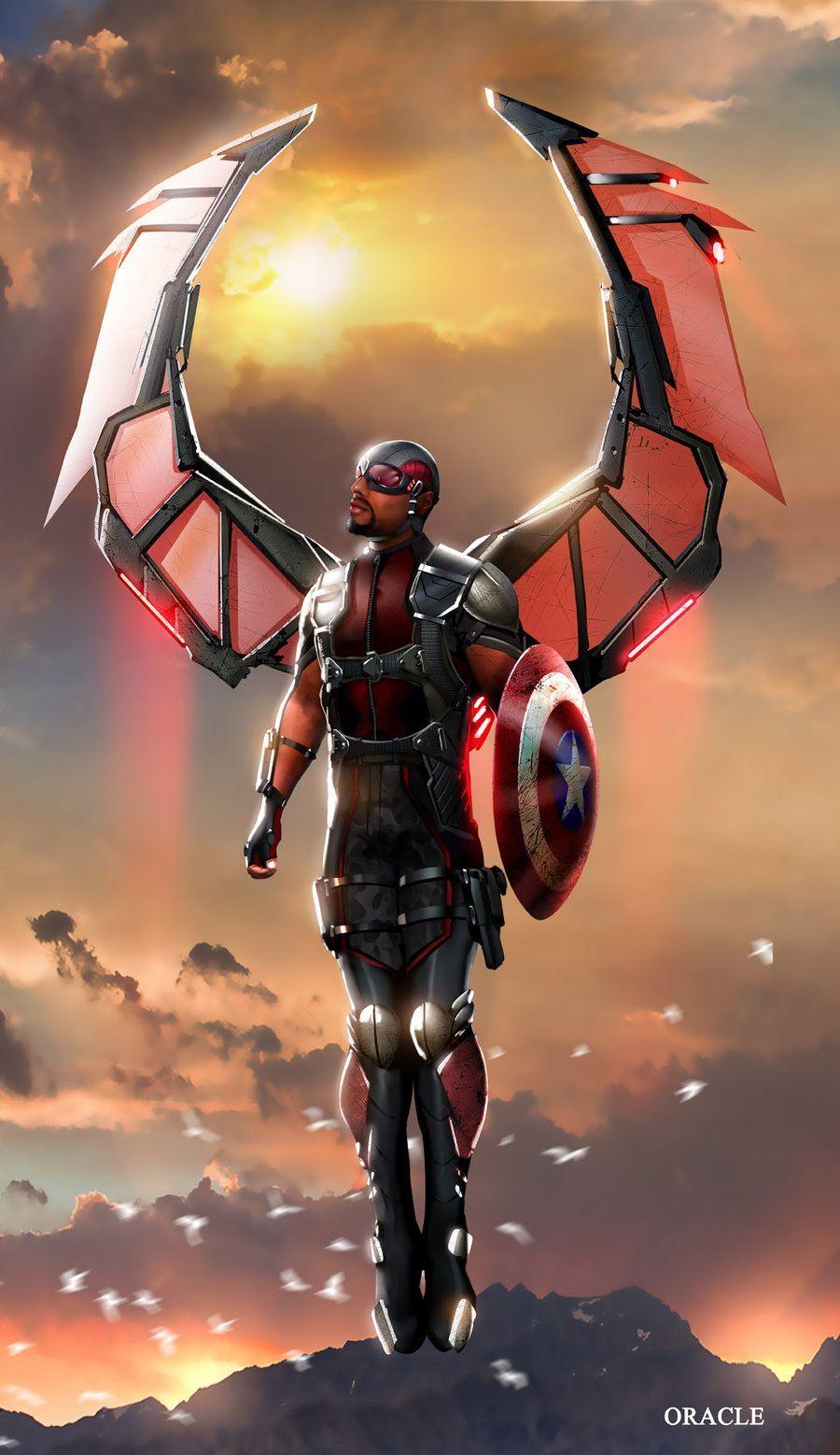 Falcon Wallpaper Hd Avenger Ultra 4k Marvel Universe Vingadores
