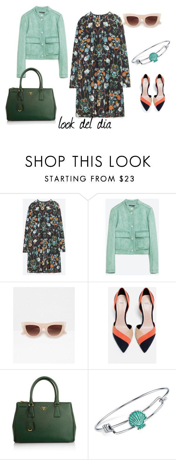 """""""look del dia"""" by aliciagorostiza on Polyvore featuring moda, Zara, Prada y Disney"""