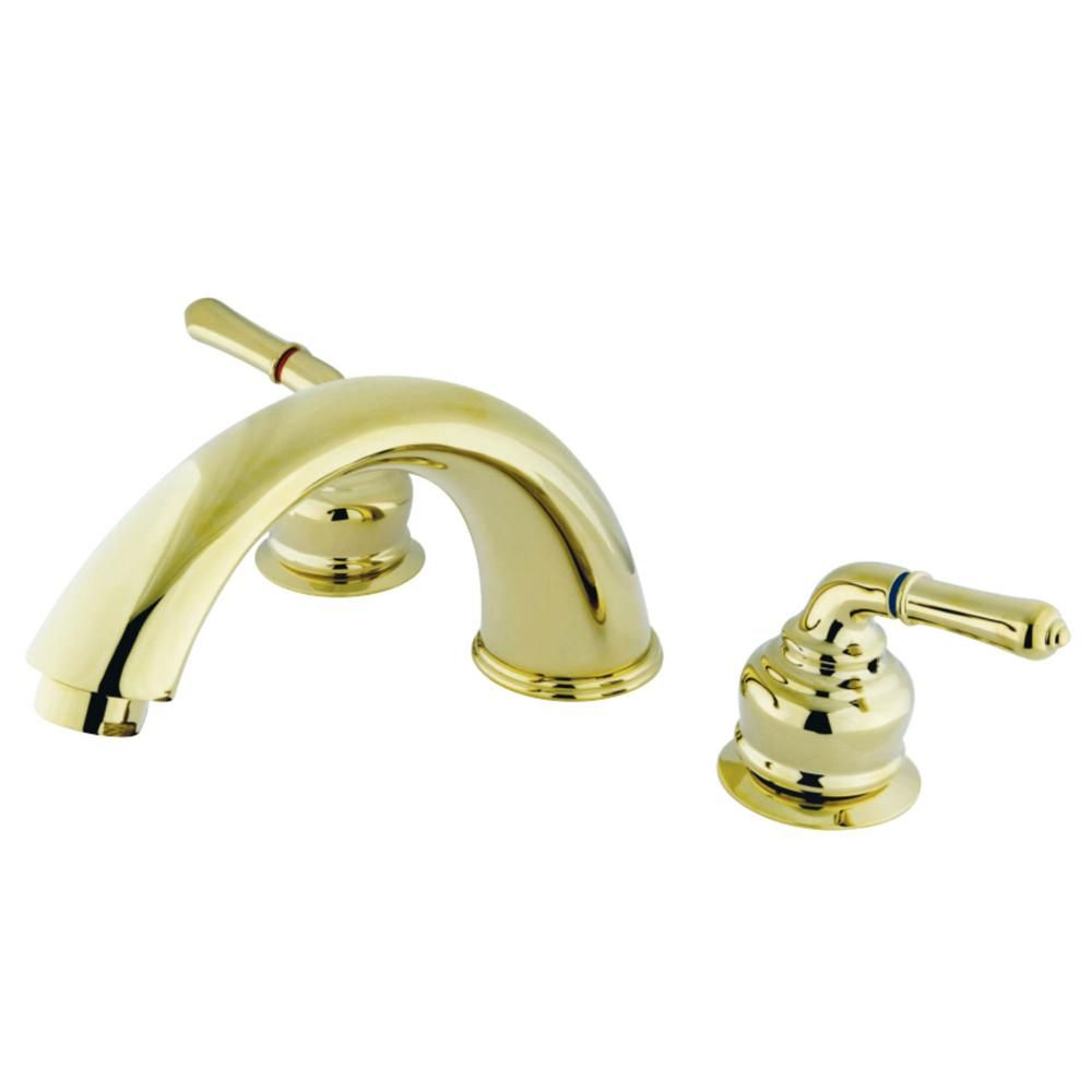 Kingston Brass Magellan 2 Handle Deck Mount Roman Tub Faucet In