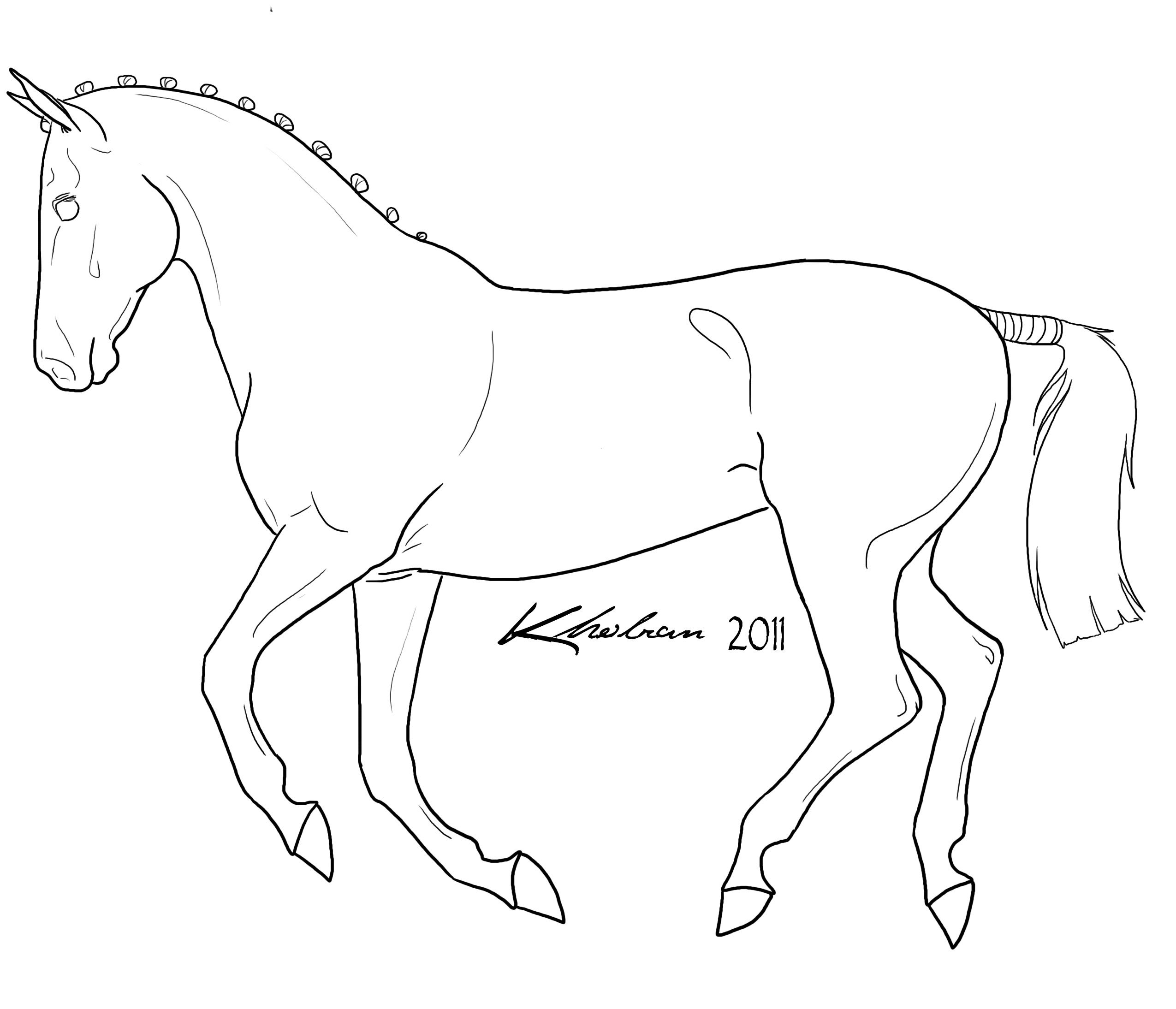 Horse Lineart Horse Coloring Pages Horse Coloring Horses