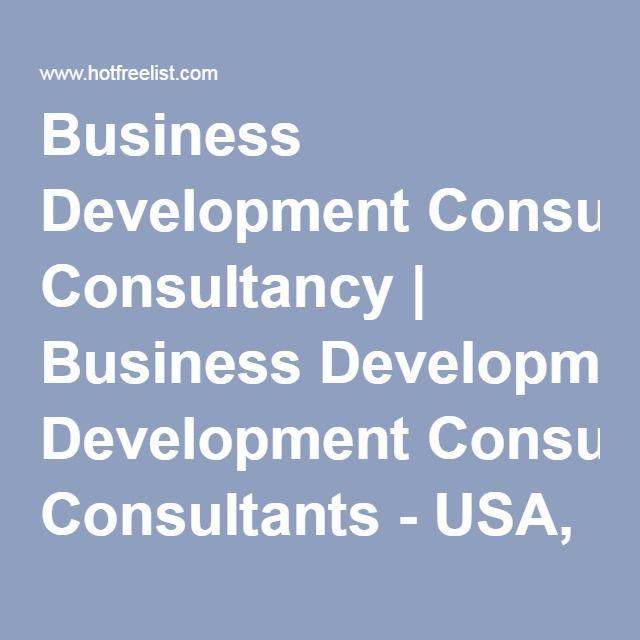 Business Development Consultancy Business Development