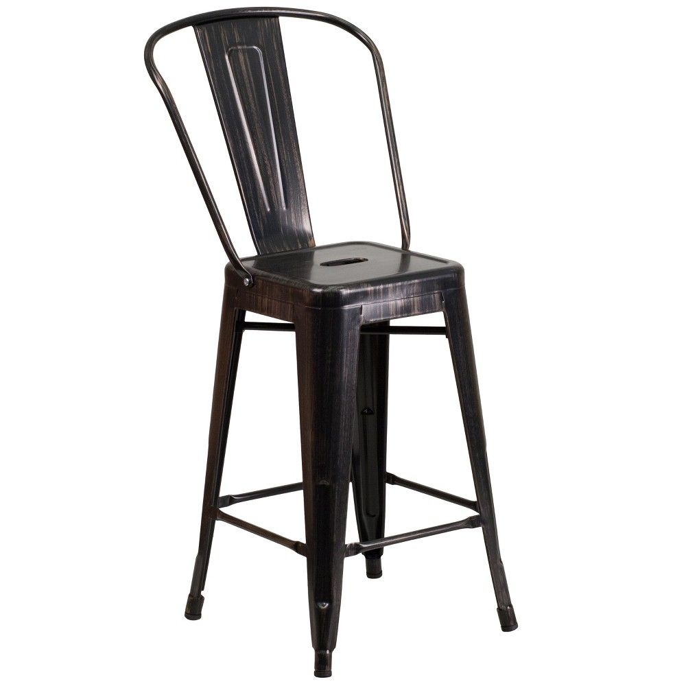 24 5 Riverstone Furniture Collection Metal Outdoor Stool