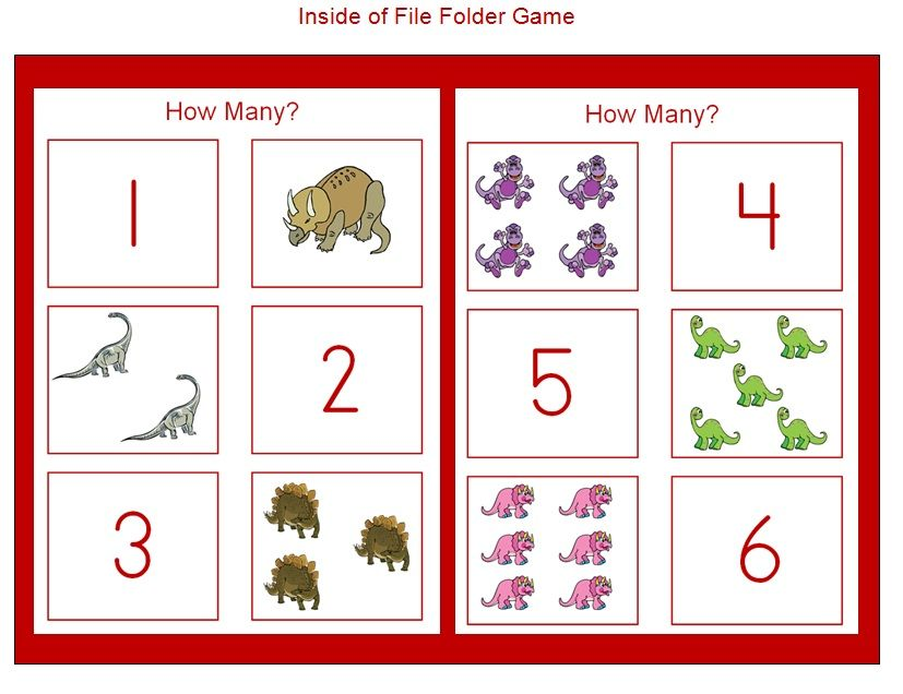 dinosaur crafts worksheets preschool how many dinosaurs file folder game added to 123 learn. Black Bedroom Furniture Sets. Home Design Ideas