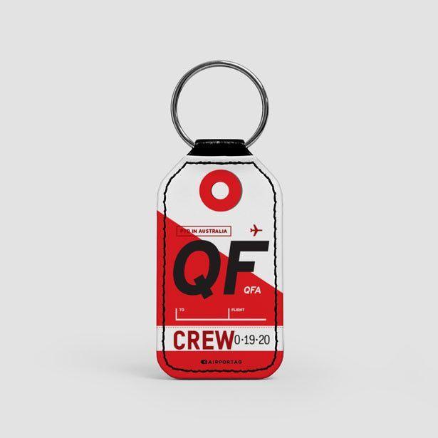 QF - Leather Keychain