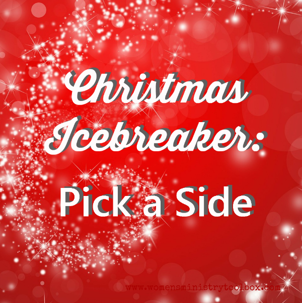 Group Games For Christmas Party: Christmas Icebreaker: Pick A Side