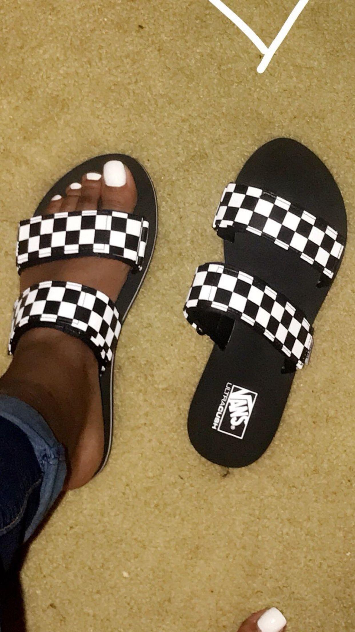 Casual summer bags, Cute vans, Slides shoes