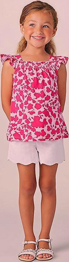 Tolle Kinderkleider für den Sommer, Mädchenkleidung, rosa Oberteil und weiße kurze …